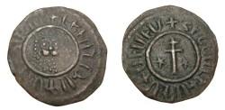 World Coins - Armenia Levon I 1190-1219 AD AE tank Nercessian 305