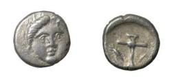 Ancient Coins - Thrace Apollonia Pontika AR Diobol 3rd Cent BC