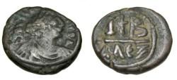 Ancient Coins - Maurice Tiberius 582-602AD Alexandria AE12 Nummi