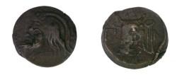 Ancient Coins - Greek Thrace AE 16 Pantikapaion 4-3rd cent BC