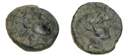 Ancient Coins - Thessaly Phalanna AE 18 Ca 350 BC S-2180