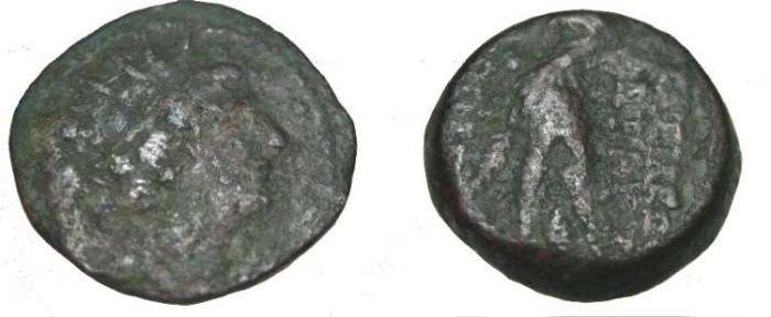 Ancient Coins - Seleukid Kings Antiochus VIII 121-96BC AE 18 S-7154