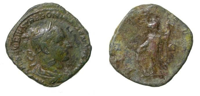 Ancient Coins - Trebonianus Gallus 251-253AD AE Sestertius S-9682