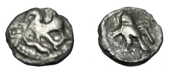 Ancient Coins - Phoenicia Tyre 400-360BC AR 1/12 Shekel
