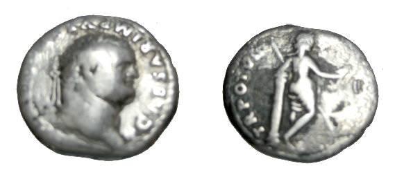 Ancient Coins - Titus 79-81AD AR Denarius TR POT VII (Cos VII) Venus S-2448