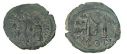 Ancient Coins - Heraclius 610-641AD AE Follis Constantinople Yr 11 Off E