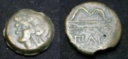 Ancient Coins - Thrace, Pantikapaion. Circa 4th-3rd Century BC. Æ 19-20mm.