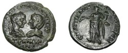 Ancient Coins - Gordian III & Tranquilla Anchialos Thrace AE25 Tyche