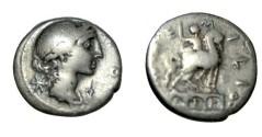 Ancient Coins - Amellius Lepidus 114-113BC AR Denarius RC 168