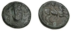 Ancient Coins - Thessaly Larissa AE 18 360-325BC S-2132
