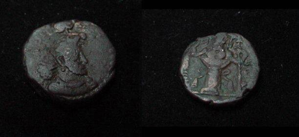 Ancient Coins - The Kushan Shaws Hormazd AE 15 M 1282 AD 271-376