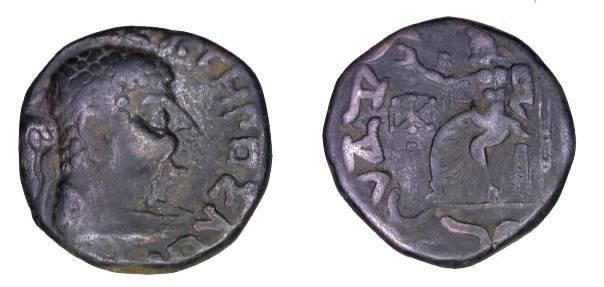 Ancient Coins - Bactria , Hermaids Ca 40-1 BC AE Tetradrachm