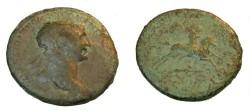 Ancient Coins - Trajan 98-114AD AE Sestertius  Trajan riding horseback R