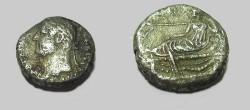 Ancient Coins - Hadrian 117-138 AD Billion Tetradrachm Niles reclining