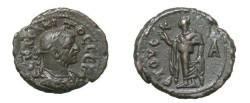 Ancient Coins - Tacitus 275 - 276 AD Roman Egypt Potin Tetrdrachm D 5516