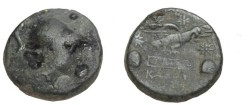 Ancient Coins - Asia Minor Phygria, Apameia AE 25 133-48 BC S-5120