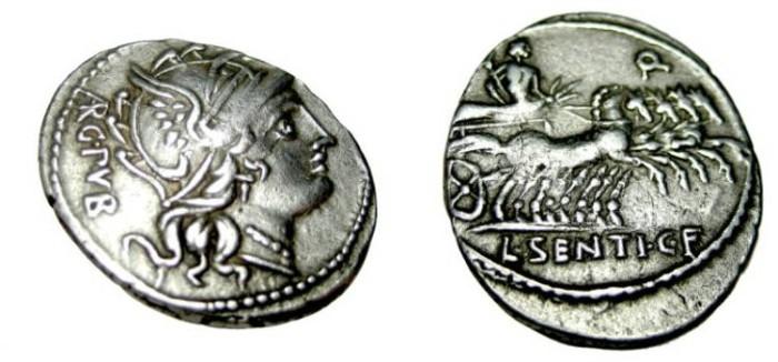 Ancient Coins - L Centius C. f. 101 BC AR Denarius