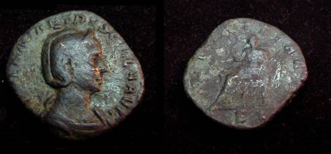 Ancient Coins - Herennia Etruscilla Wife of Trajan 249-251AD