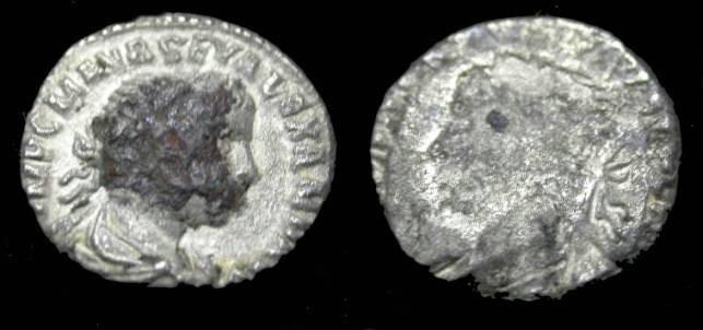 Ancient Coins - Severus Alxenader AR Denarie BROCKAGE