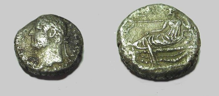 Ancient Coins - Hadrian 117-138 AD Billion Tetradrachm Niles reclining