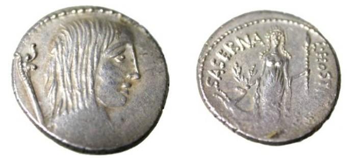Ancient Coins - L. Hostiliud Saserna 48BC  Hostililia-4