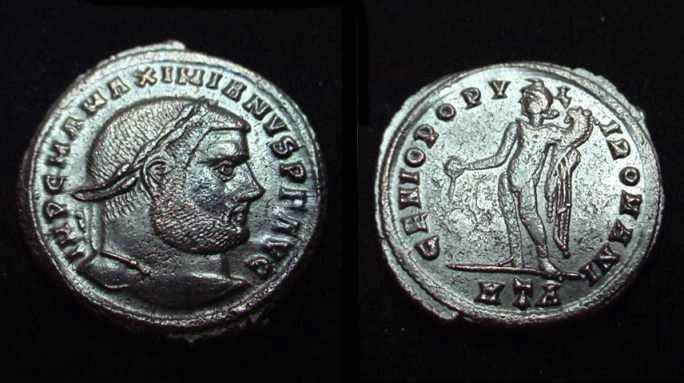 Ancient Coins - Maximianus 286-310 AD AE Follis