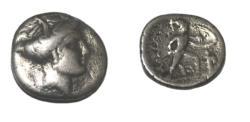 Ancient Coins - Lokris Opuntia, Opus 338-300 BC  AR Hemidrachm  2.25 gm
