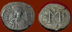 Ancient Coins - Justin AE Follis Officiana Colter