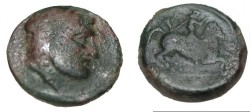 Ancient Coins - Thessaly Krannon AE 17 3rd Cent BC S-2075