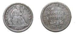 Us Coins - 1939 Seated Liberty Dime F12