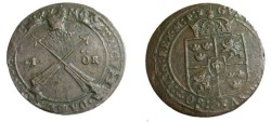 World Coins - Sweden 1641-1637 Gustav II Adolf Stater 1 ore 1630 KM #415