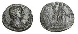 Ancient Coins - Julia Mamaea 235 AD AE Sestertius Felicitas Publica RIC 676 corroson