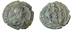 Ancient Coins - Valentinianus AE2 384-408 AD Gloria Romanorvm RIC 59b