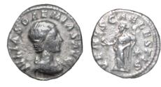 Ancient Coins - Roman Imperial Julia Soaemias Mother Elagabalus d 222 AD AR Denarius 2.83 gm