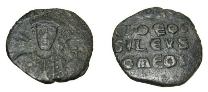 Ancient Coins - Constantine VII 913-959 AD Constantinopple AE Follis