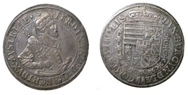 World Coins - Austria Tirol Thaler 1564-95 Hall Mint Archduke Ferdinand II