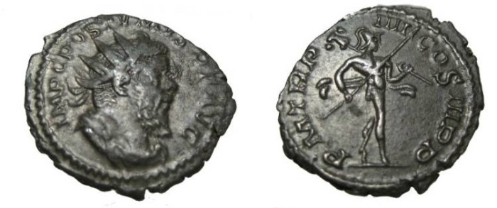 Ancient Coins - Postumus 259-268 AD Bil. Antininianus S-3122