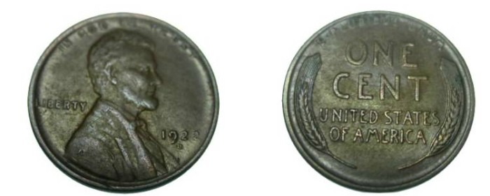 US Coins - 1922-D Lincoln XF