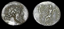 Ancient Coins - Demetrios II, Nikator AR Tetradrachm Diademed Hd R