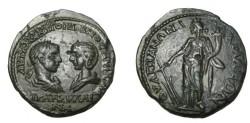 Ancient Coins - Gordian III & Tranquilla Anchialos Thrace AE28 Rv Tyche / Fortuna