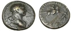 Ancient Coins - Trajan 98-117AD Duondius SPQR OPTIMO RIC 545