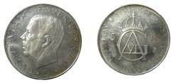World Coins - Sweden Gustav VI A 1952 5 Kroner Proof (Hazy)