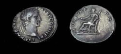 Ancient Coins - Nerva Denarie 96- 98 AD