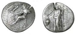 Ancient Coins - Asia Minor Cilicia Nagidos AR Stater 420-390 BC Test Cut S-5578