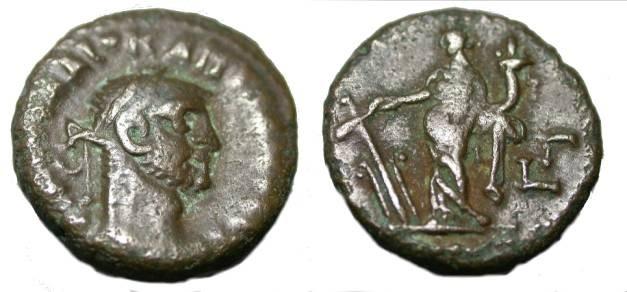 Ancient Coins - Egypt Alexandria Carinus 283 - 285 AD AE Tetradrachm S 4778