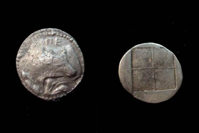 Ancient Coins - Thrace Akanthos 424 - 380BC AR Tetraobol