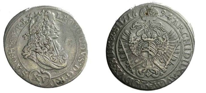 World Coins - Austria 1694 15 Kreuzer KM #1143