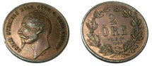 World Coins - 1857 2 ore KM 688