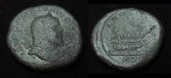 Ancient Coins - Postumous   Æ Sestertius Obv