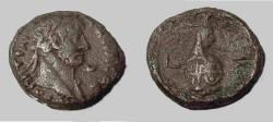 Ancient Coins - Roman Egypt Hadrian Billion tetradrachm  117-138AD Conopus of Osiris